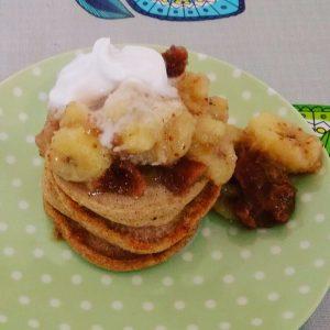 banoffee pancake stack