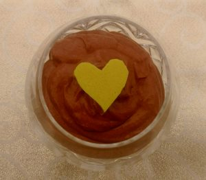 Coco-reishi mousse with golden milk gummi